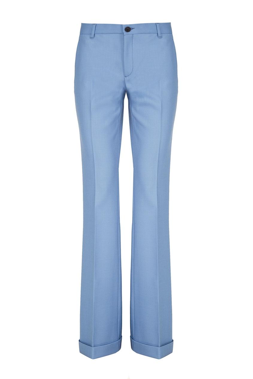 Расклешенные брюки из шерсти