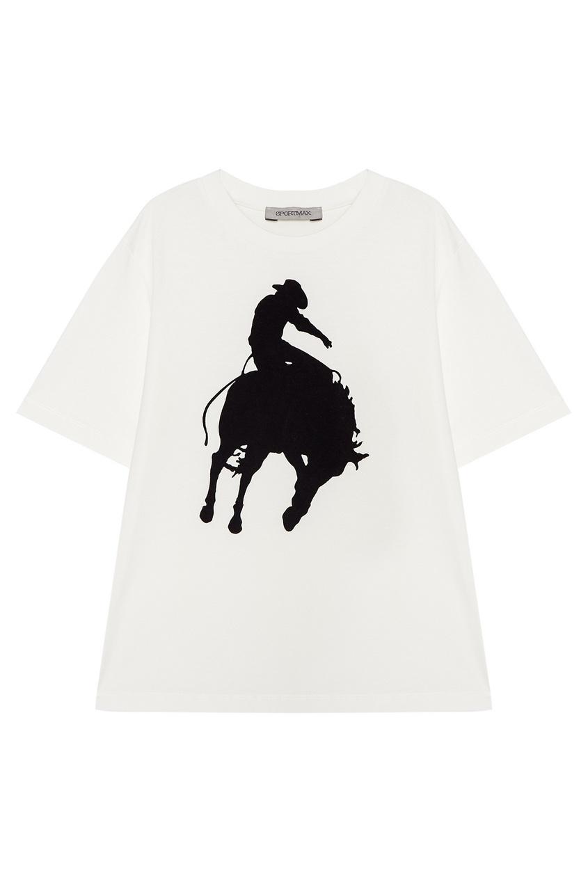 Хлопковая футболка с рисунком
