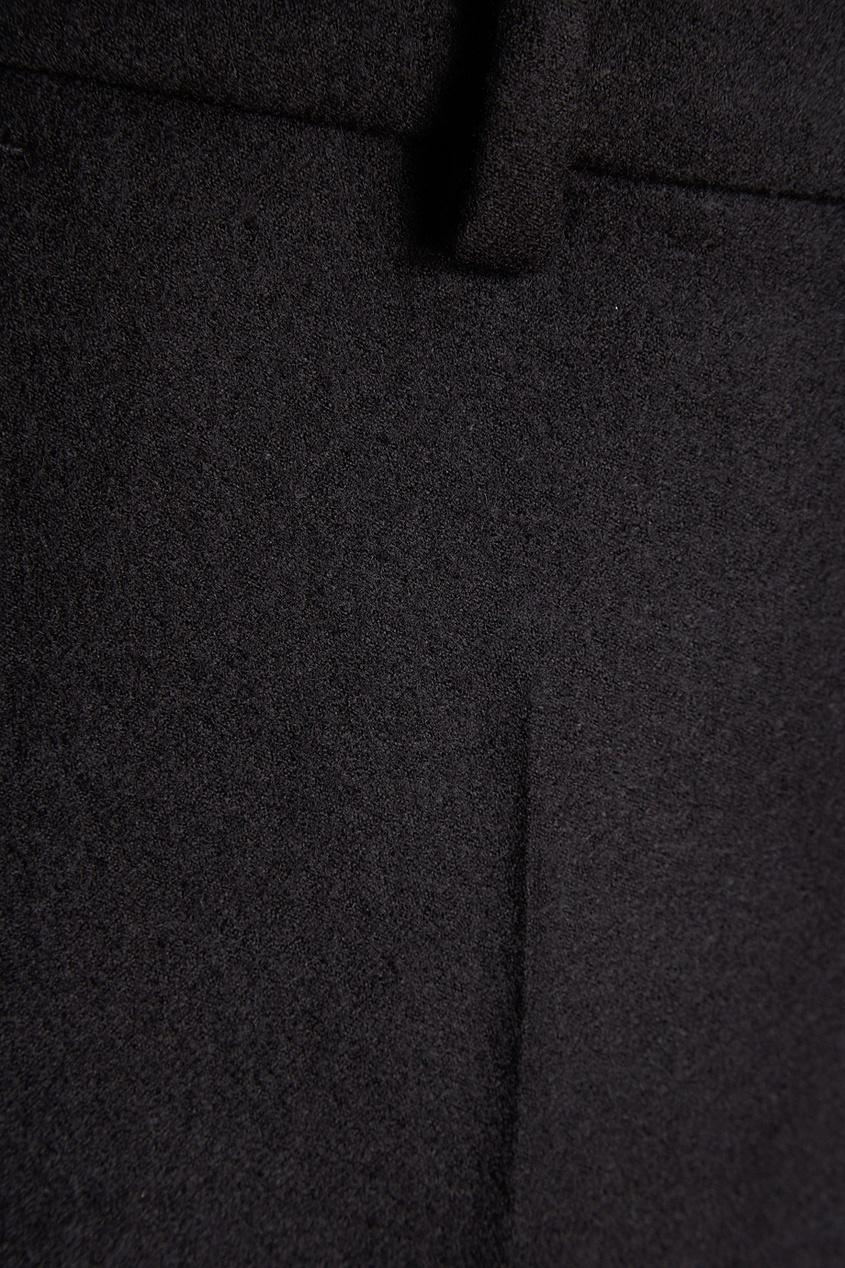 Черные шерстяные брюки