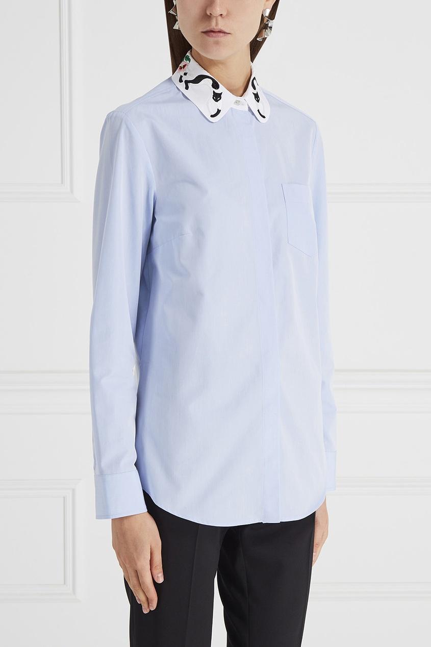 Рубашка с вышитым воротником