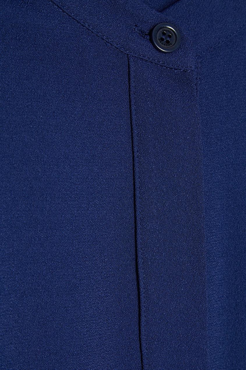 Max Mara Weekend Синее платье-рубашка с поясом рубашка weekend max mara weekend max mara we017eworc33