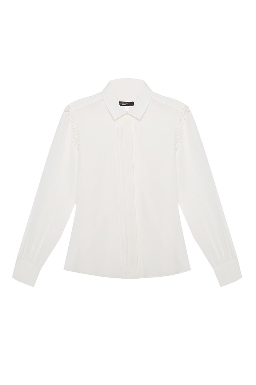 Шелковая блузка с кружевом