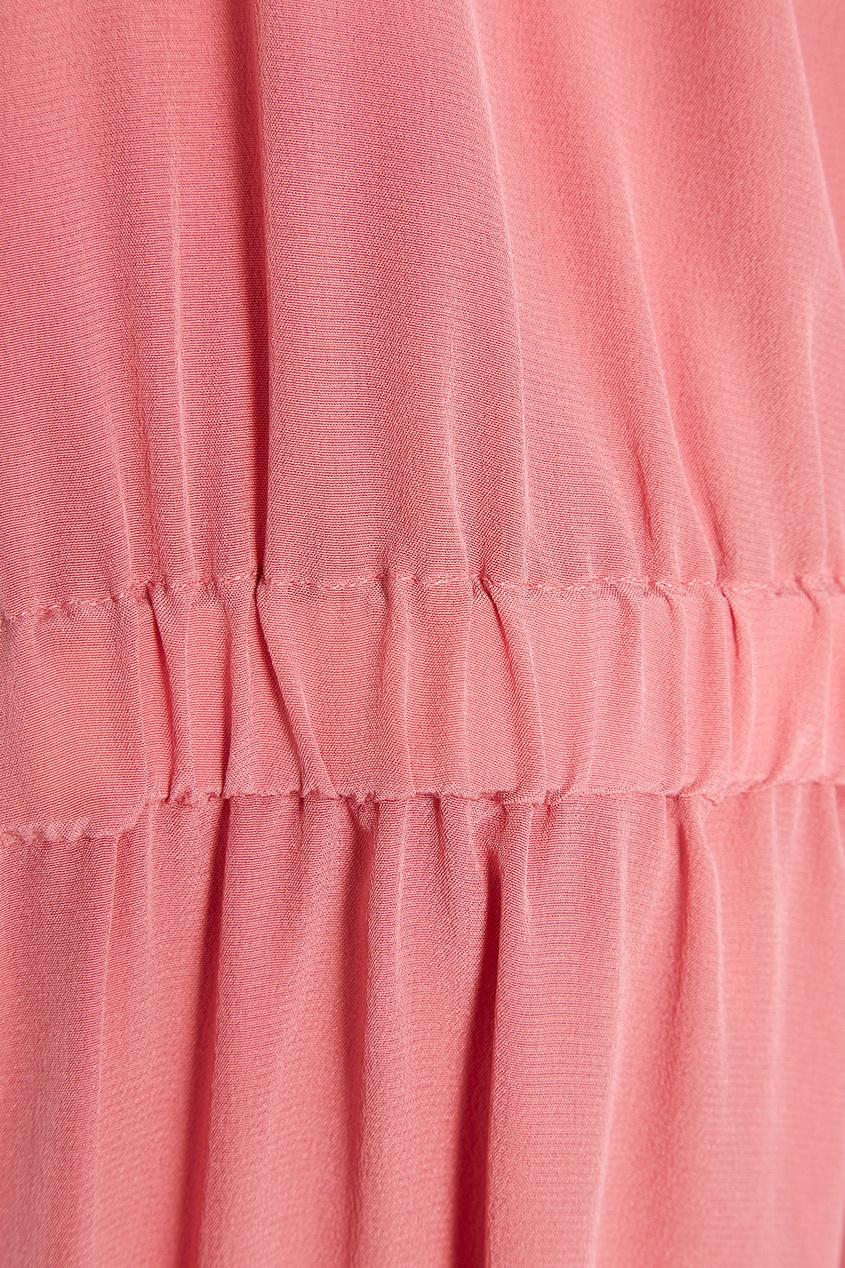 Шелковая блузка с драпировками