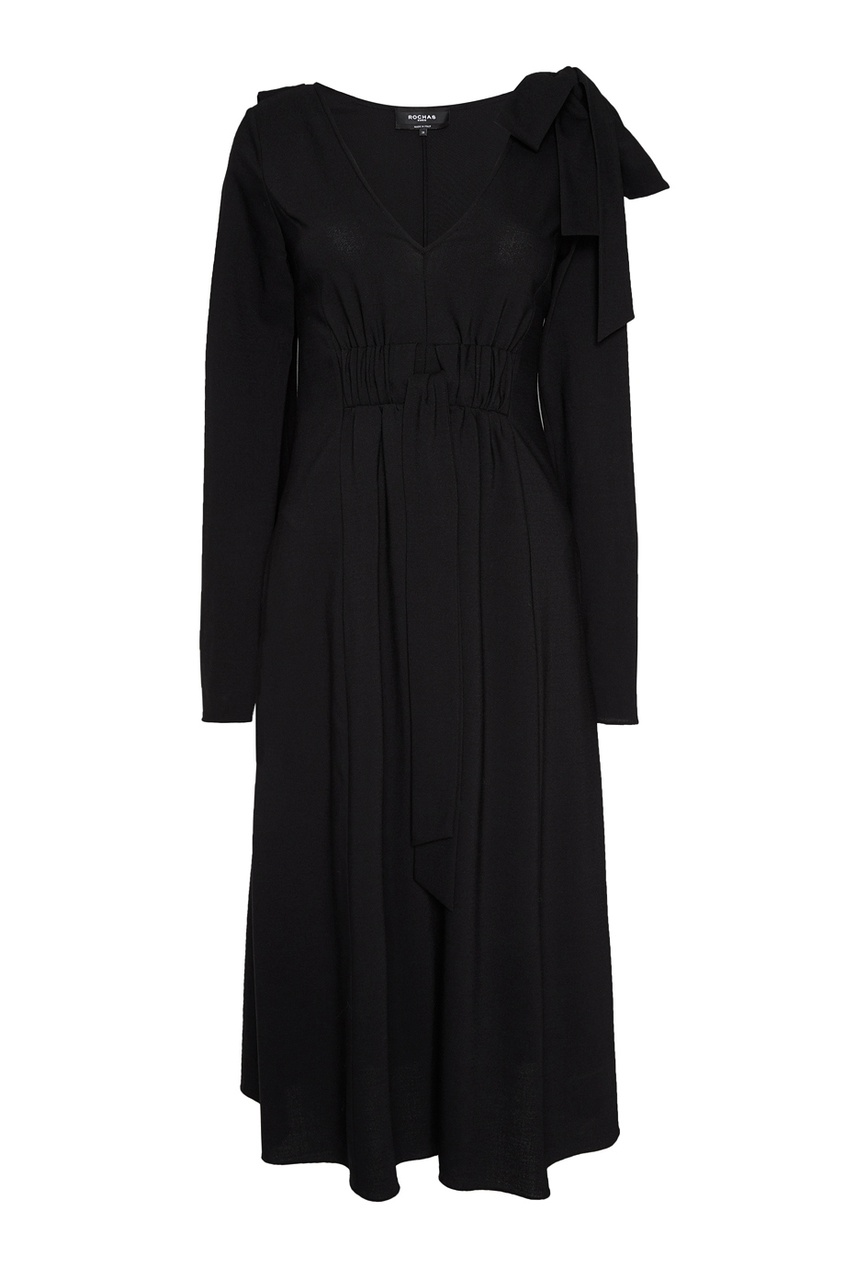 Rochas Шерстяное платье с кулиской rochas