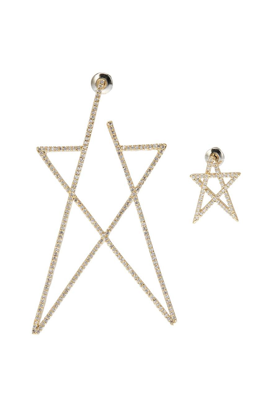Асимметричные серьги-звезды