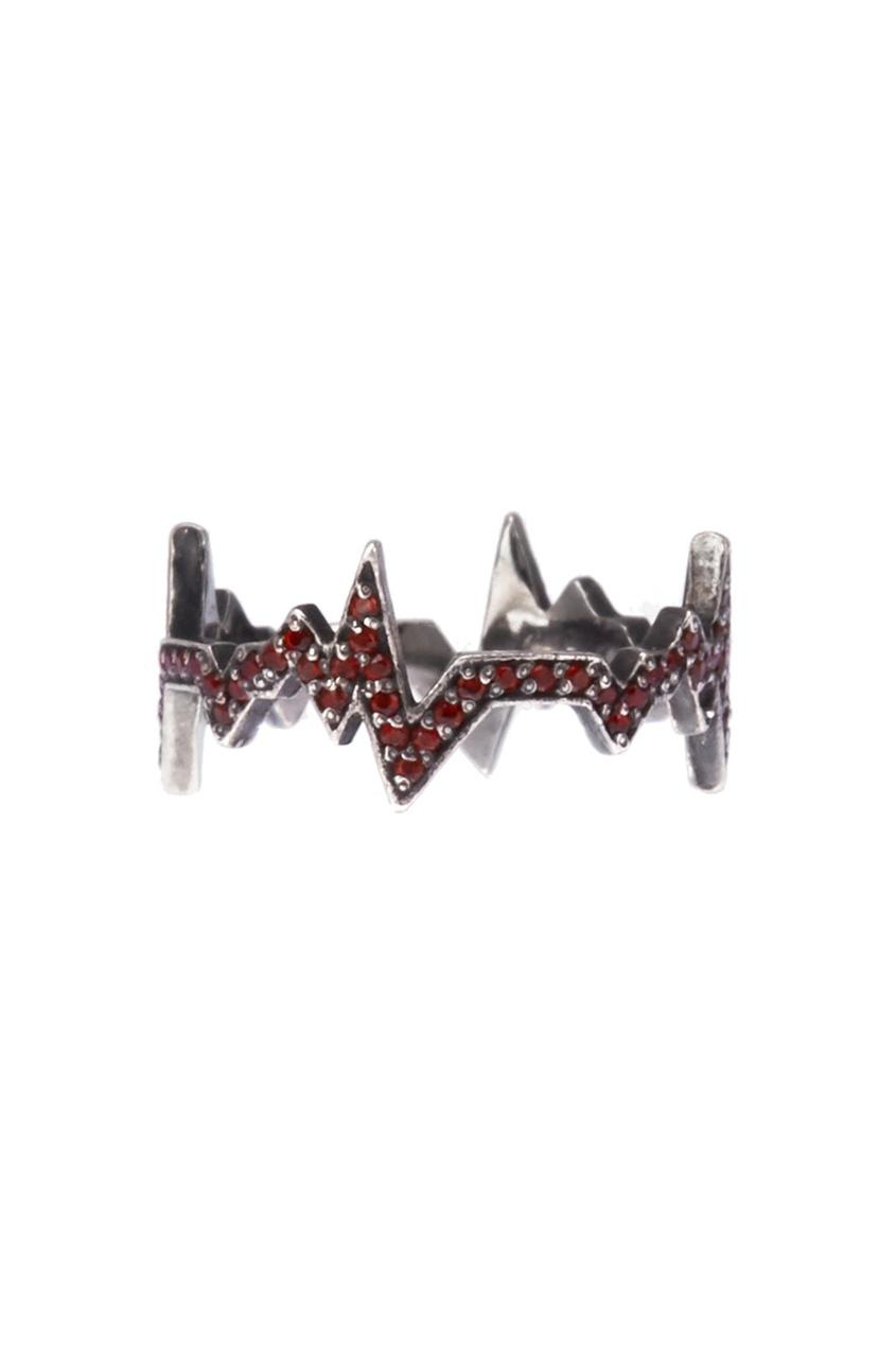 Caviar Jewellery Серебряное кольцо с гранатами