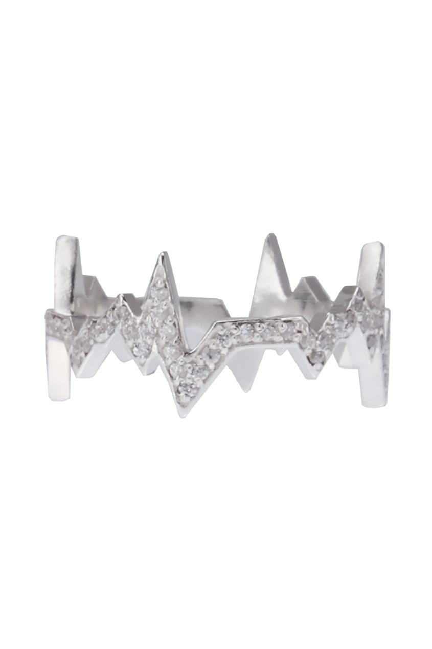 Caviar Jewellery Серебряное кольцо с фианитами кеды lacoste lacoste la038awhsf14