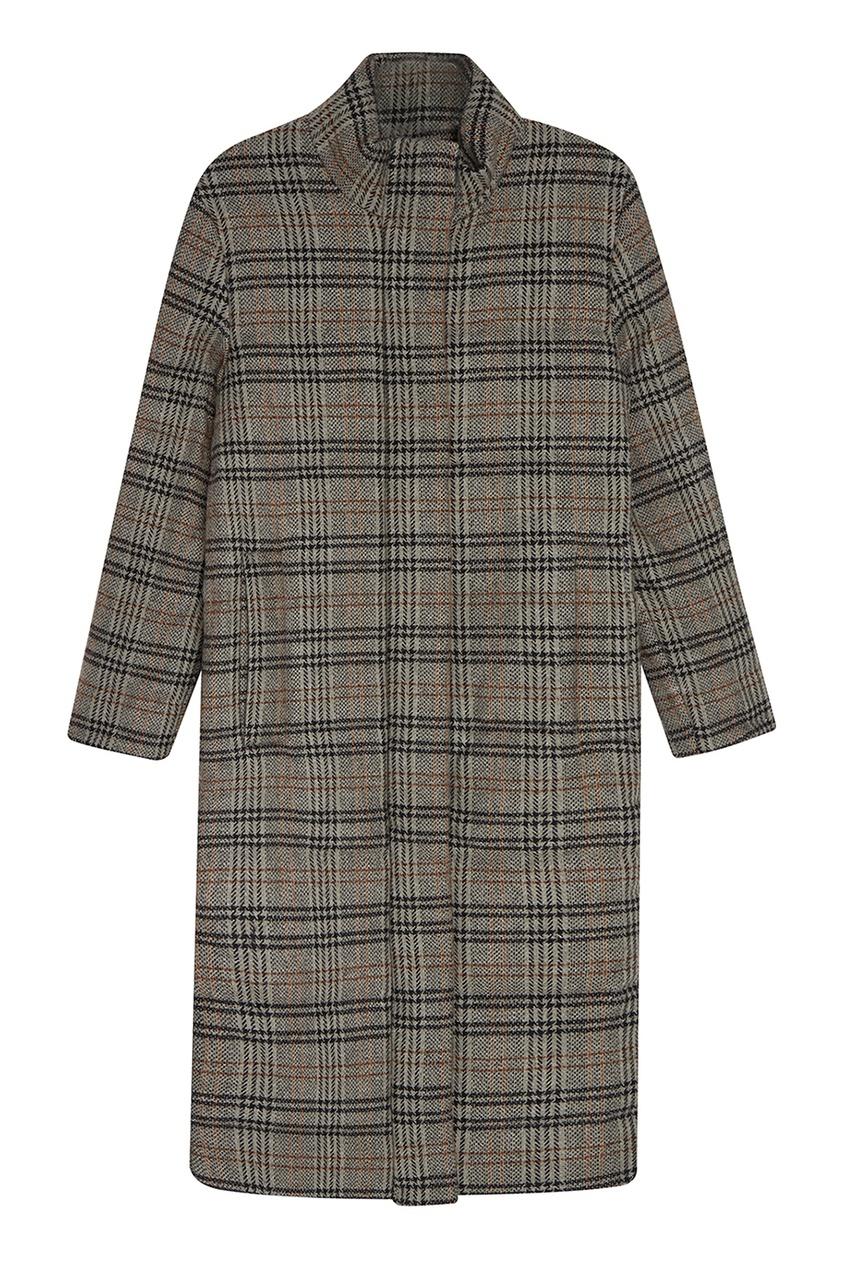 I Am  Studio Шерстяное пальто в клетку пальто из шерстяного драпа 70