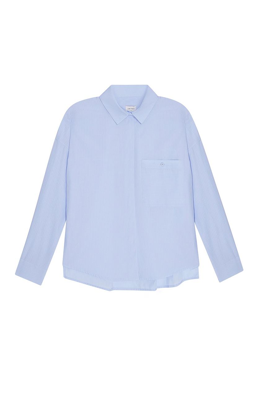 Хлопковая рубашка голубая