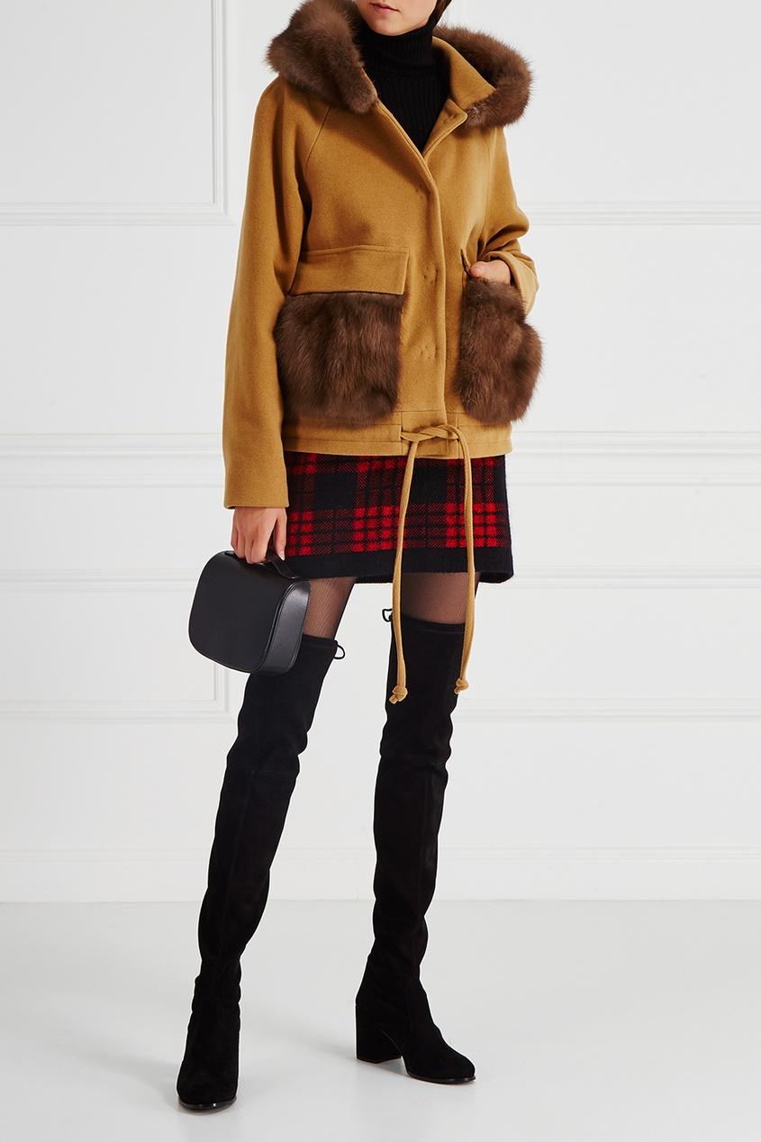 DREAMFUR Куртка из кашемира с мехом куницы куплю шкуры куницы 2014 год октябрь