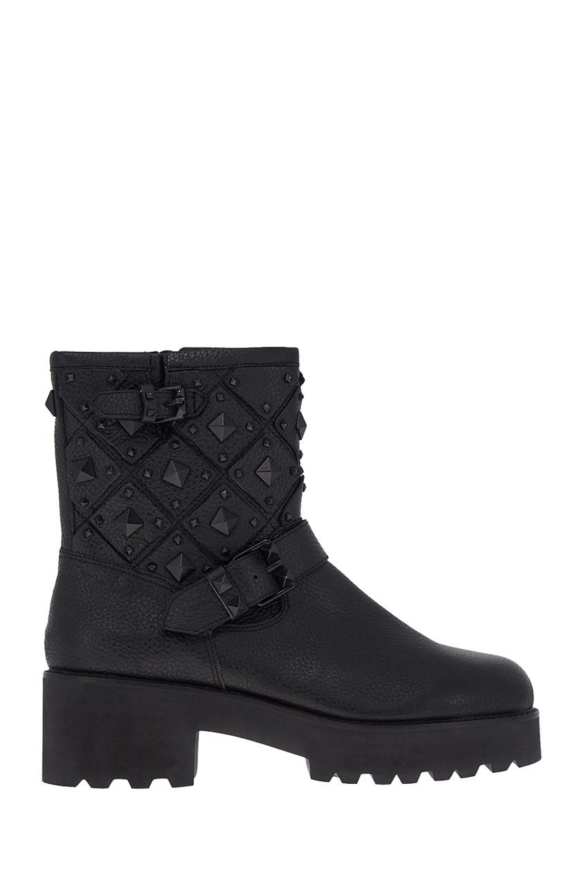 ASH Кожаные ботинки с заклепками ботинки кожаные с кисточками