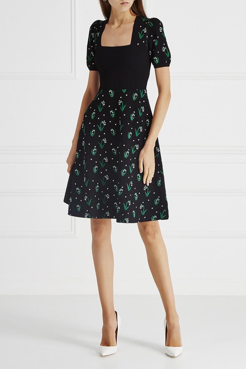Valentino Трикотажное платье платье трикотажное с ажурным вырезом
