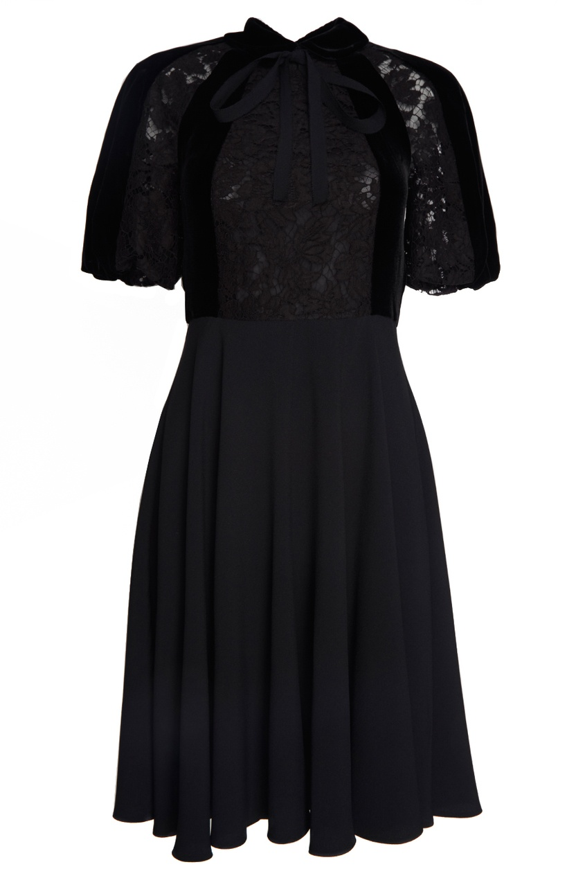 Valentino Платье с кружевом