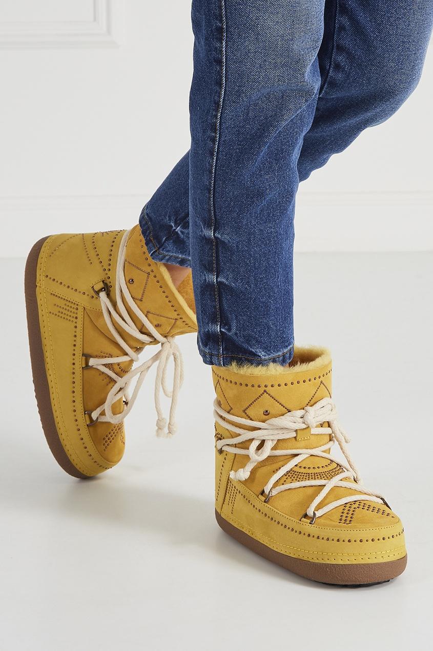 INUIKII Замшевые ботинки-луноходы женские луноходы