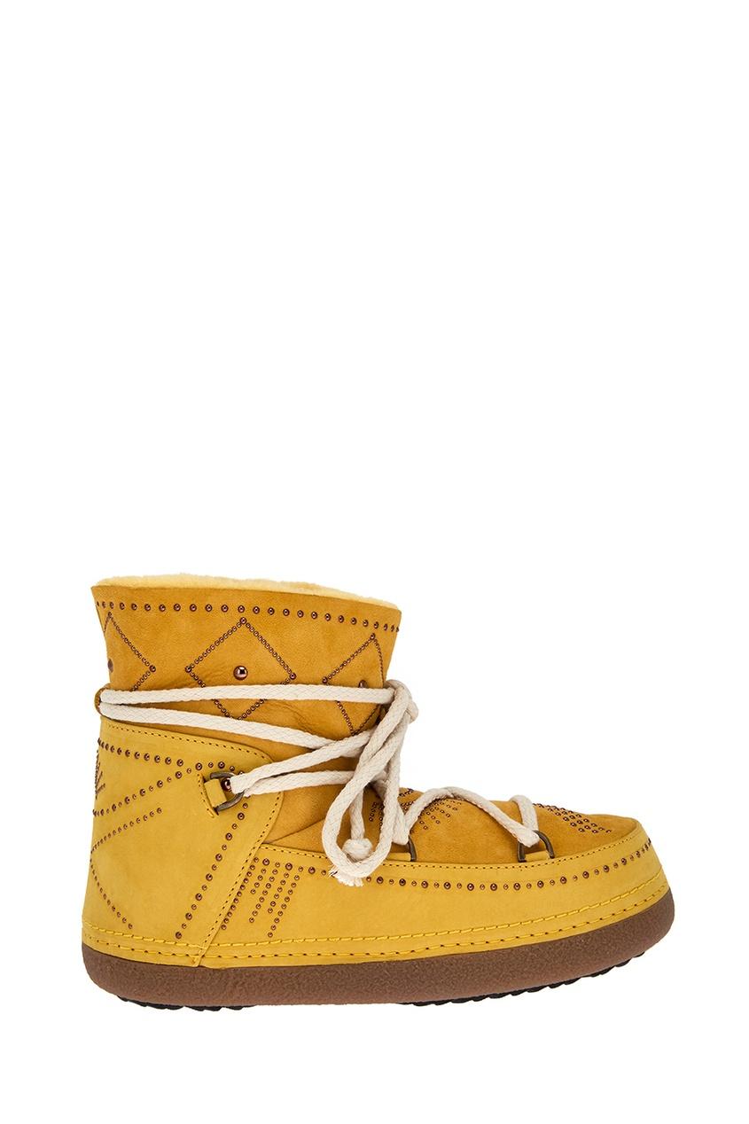 Замшевые ботинки-луноходы