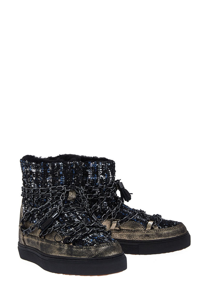 Ботинки-луноходы с цепочками