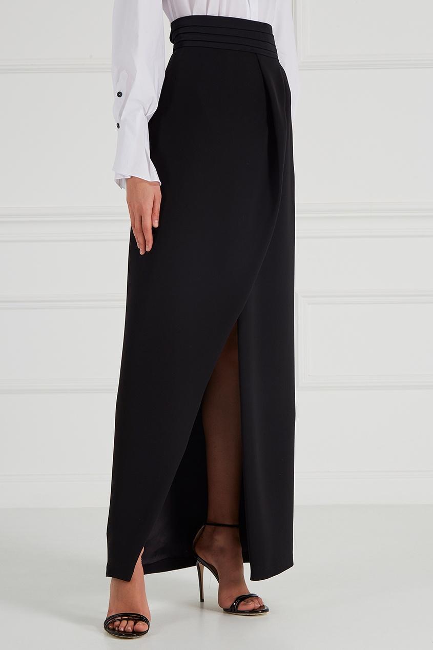 Шелковая юбка с запахом