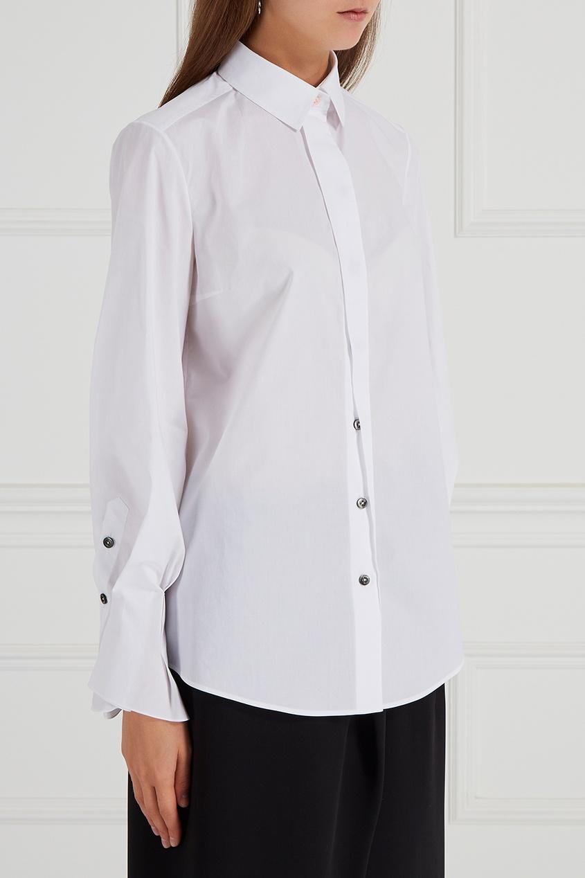Хлопковая рубашка белая