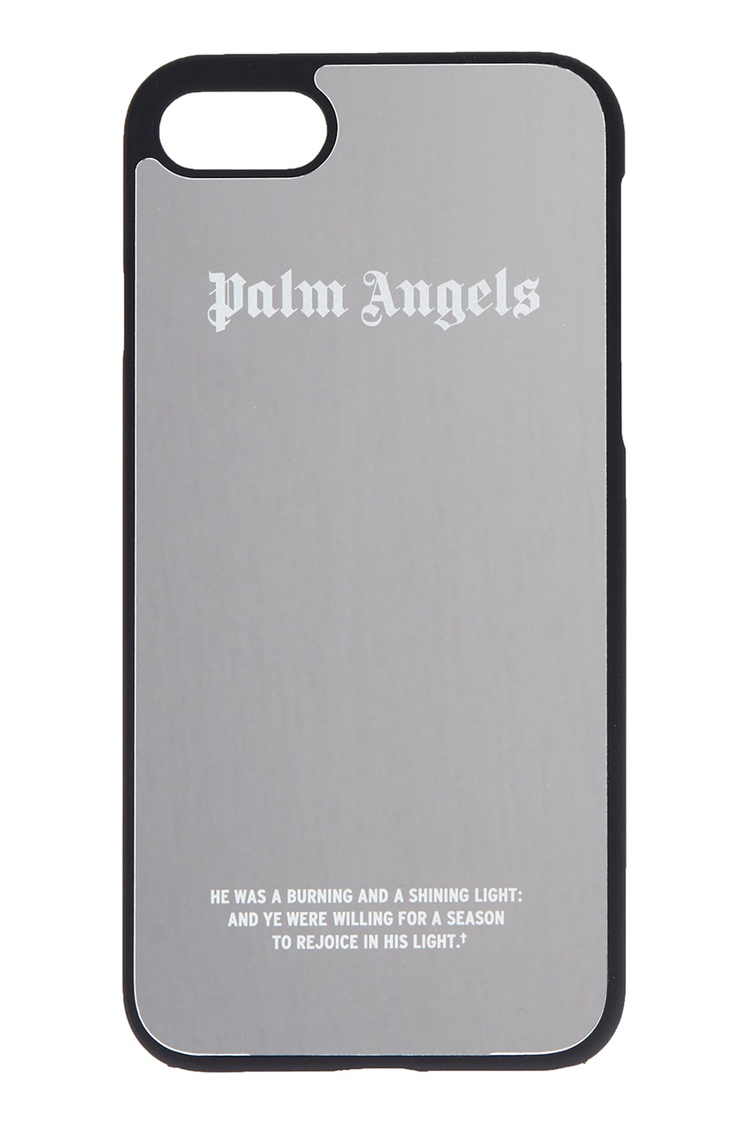 Palm Angels Зеркальный чехол для iPhone 7 серебряный