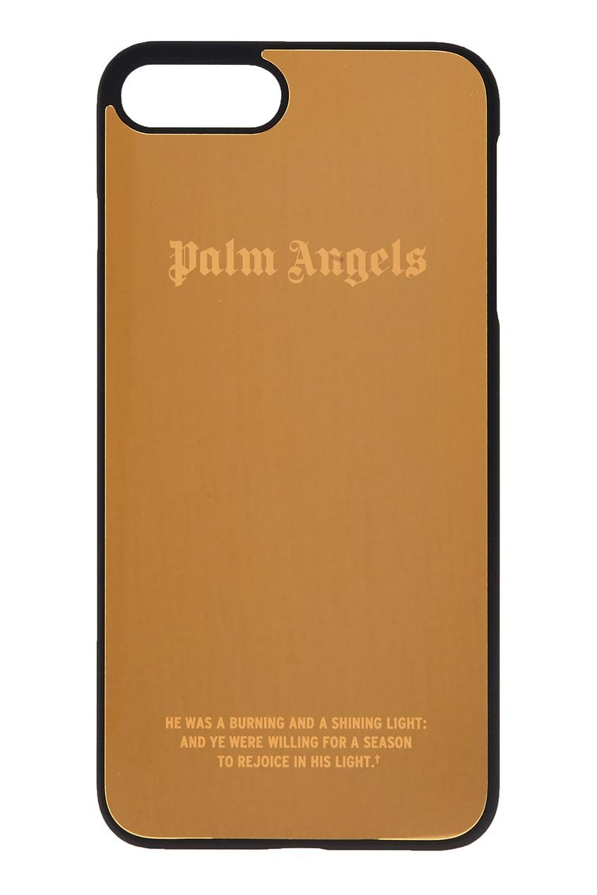 Palm Angels Зеркальный чехол для iPhone 7 plus золотой
