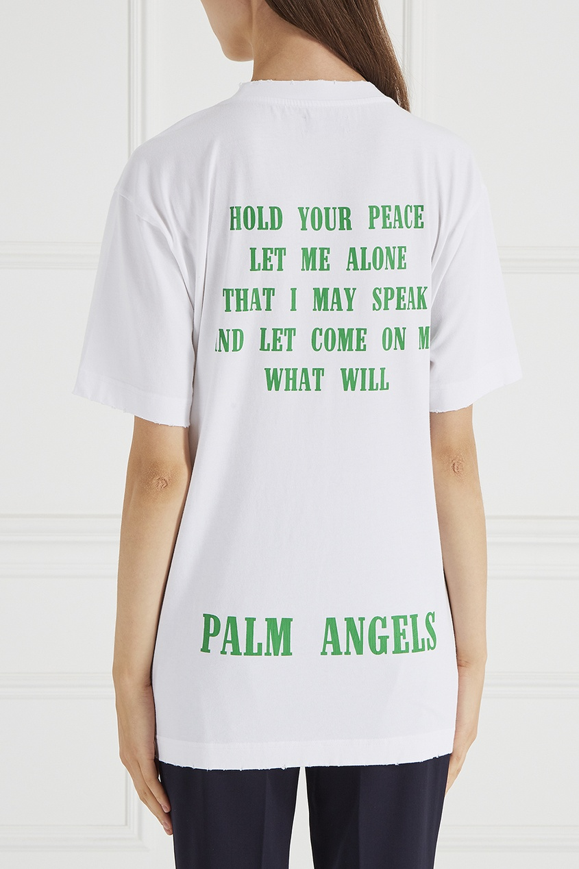 Белая футболка с надписью