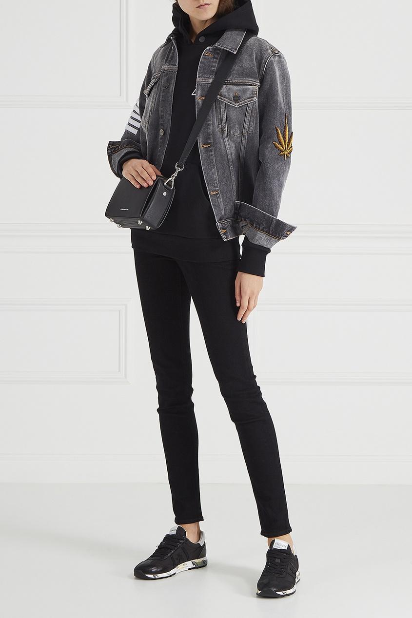 Купить со скидкой Джинсовая куртка с комбинированным декором