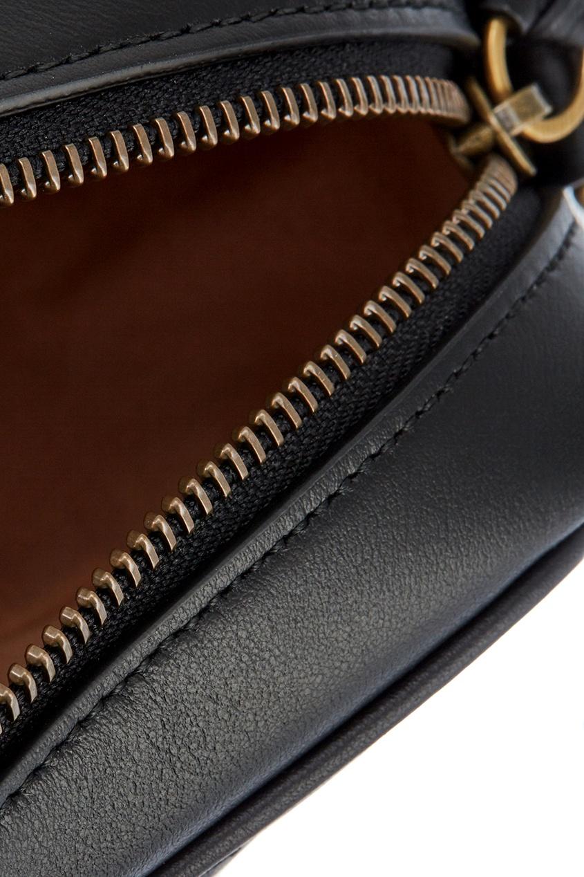 Gucci Кожаная сумка GG Marmont с монограммой