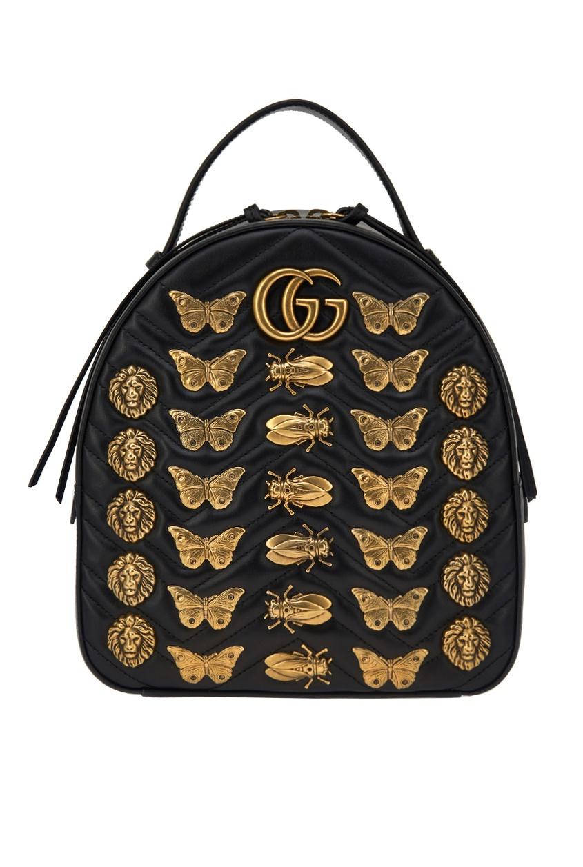 Gucci Рюкзак GG Marmont с металлическим декором