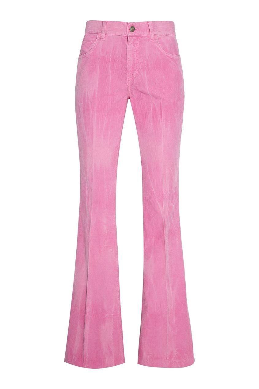 Купить со скидкой Розовые брюки из вельвета
