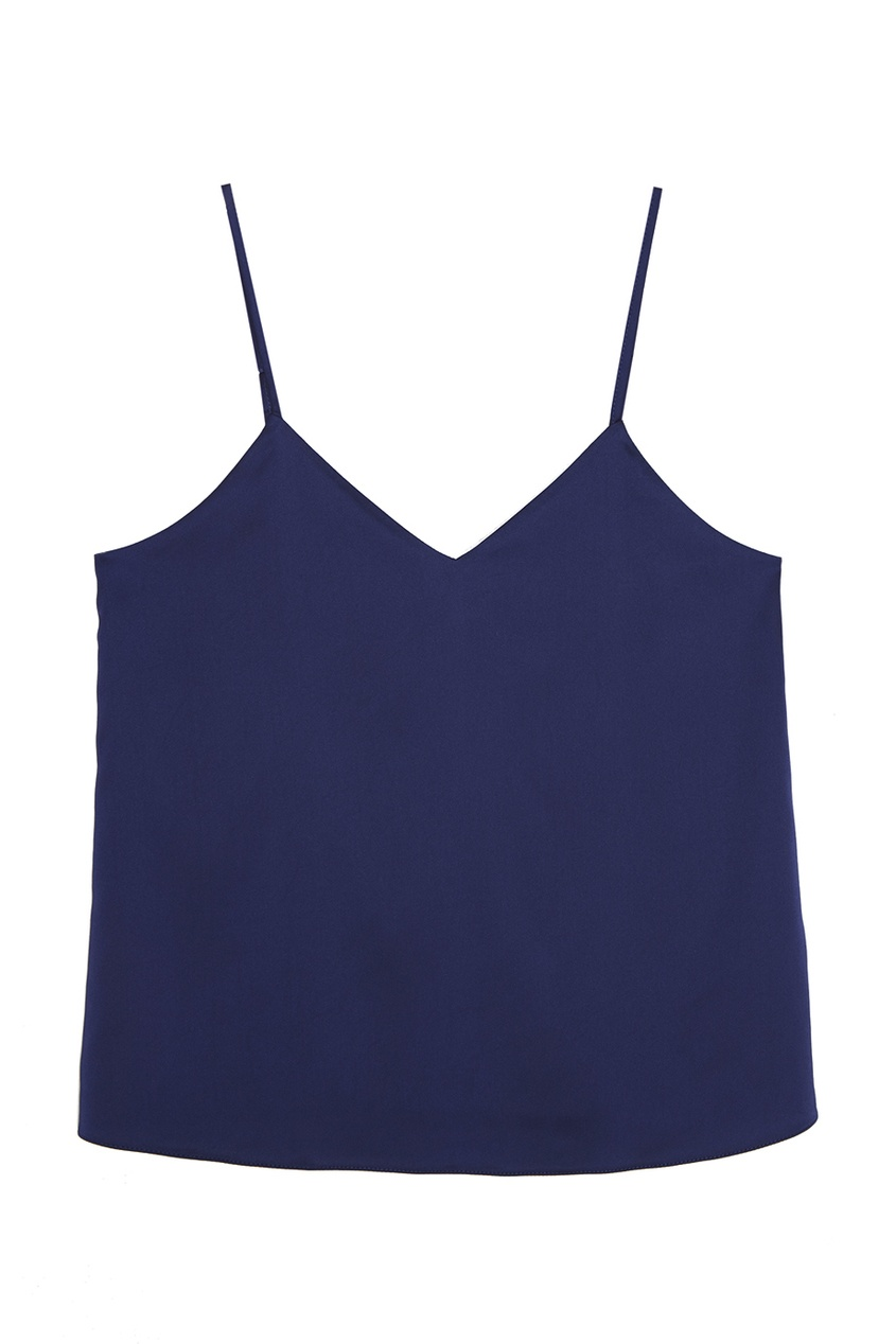 цена на T-Skirt Синий атласный топ