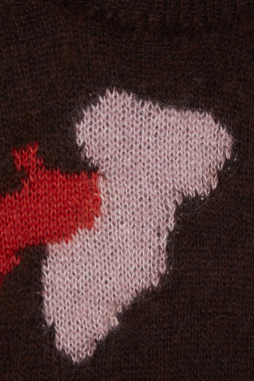 delpozo юбка из хлопка и шелка Delpozo Коричневый джемпер из мохера и шелка