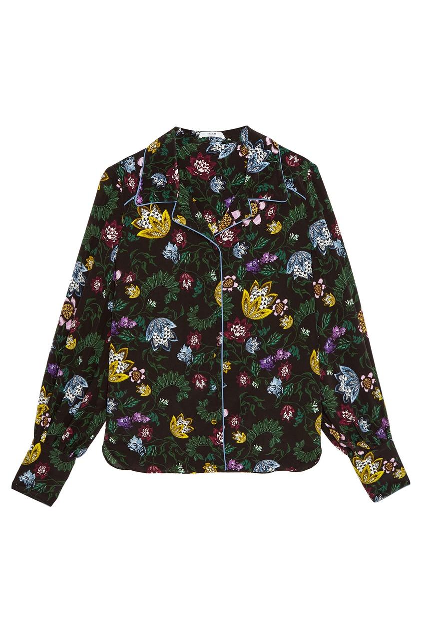 Шелковая блузка с цветочным принтом Fae
