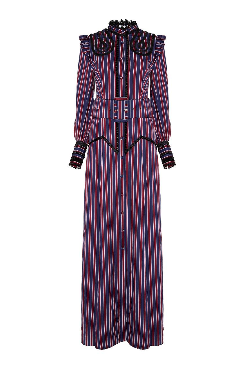 Хлопковое платье в полоску Idonia.
