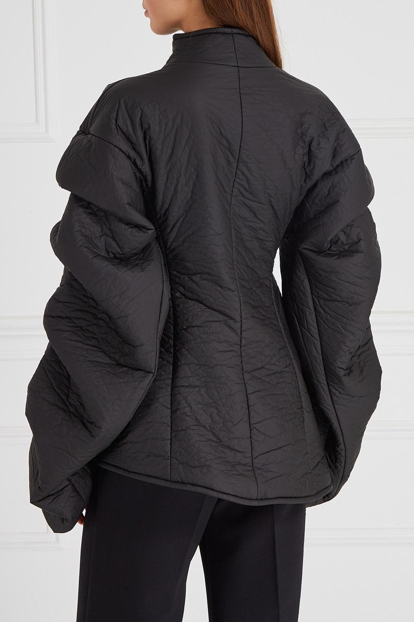 Куртка с драпированными рукавами