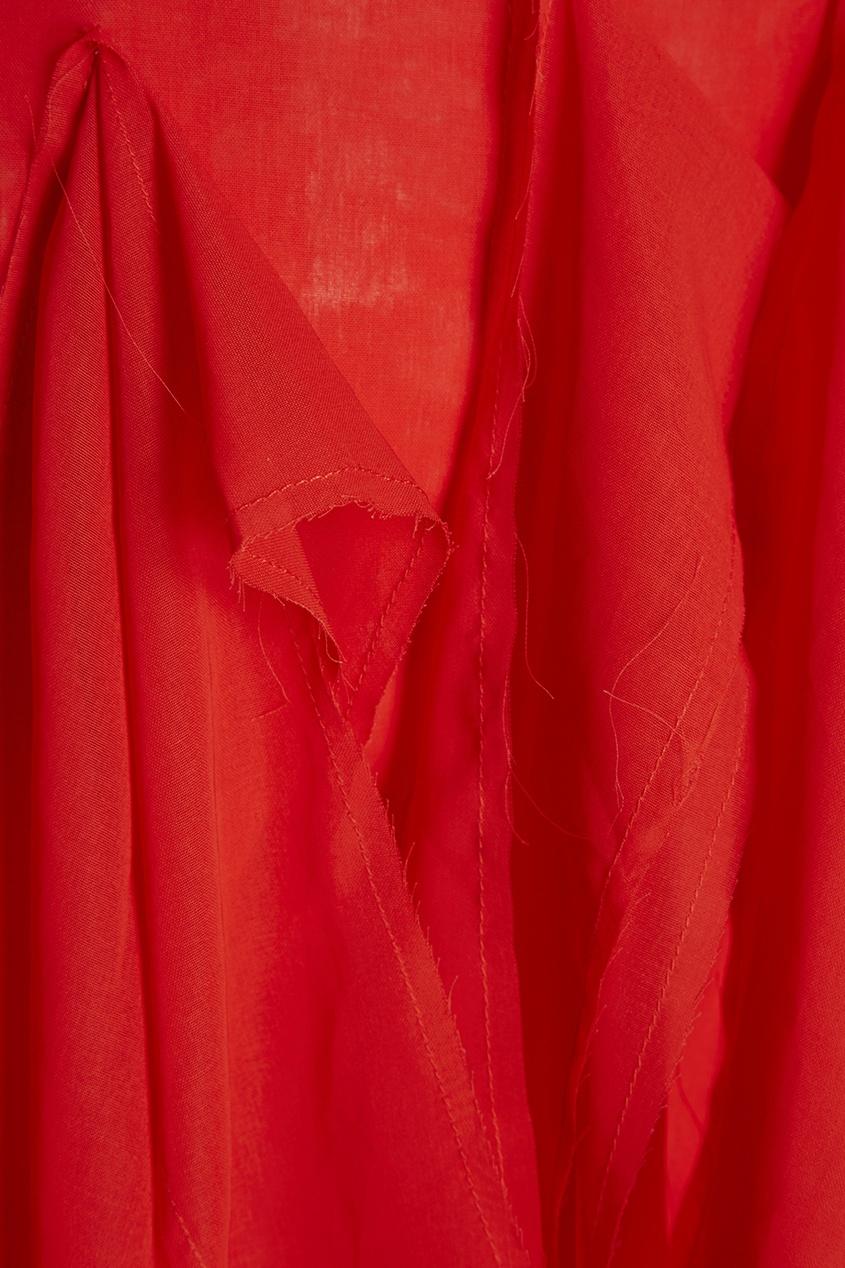 Хлопковое платье с асимметричным декором