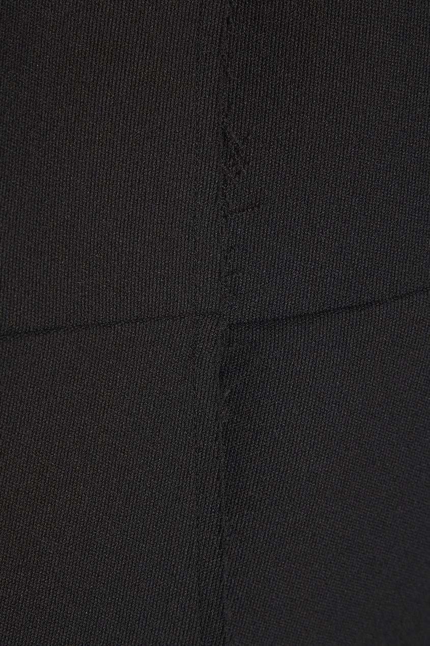 Черный жакет необработанными краями