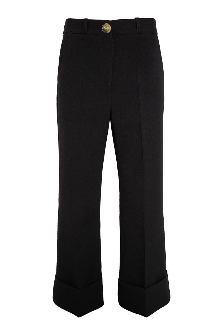 Черные брюки с отворотами