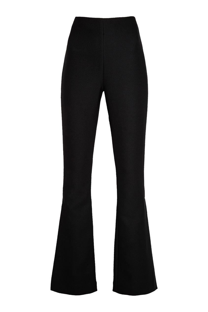 Черные брюки-клеш