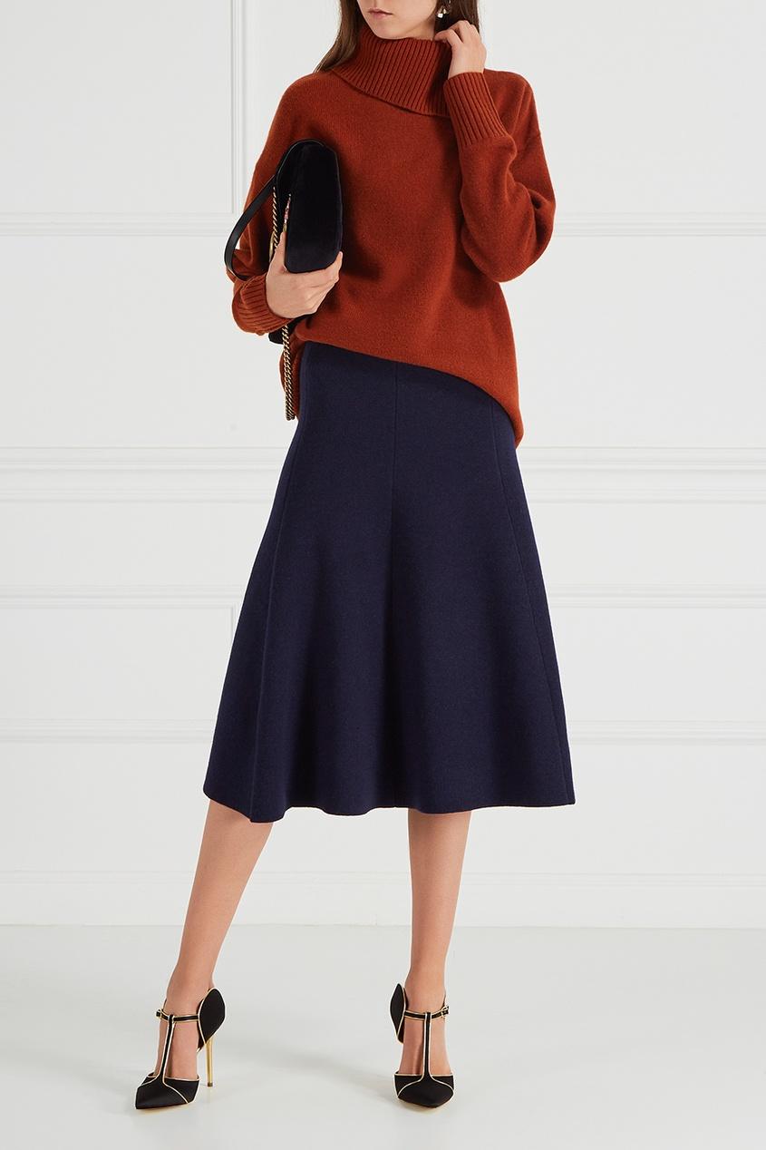 Шерстяная юбка-колокол