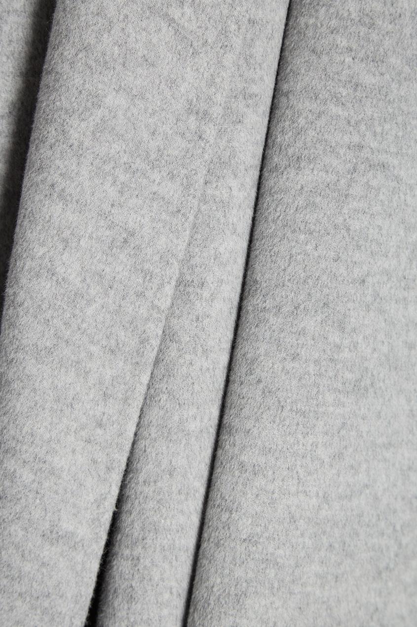 Купить со скидкой Серое пальто из шерсти и кашемира