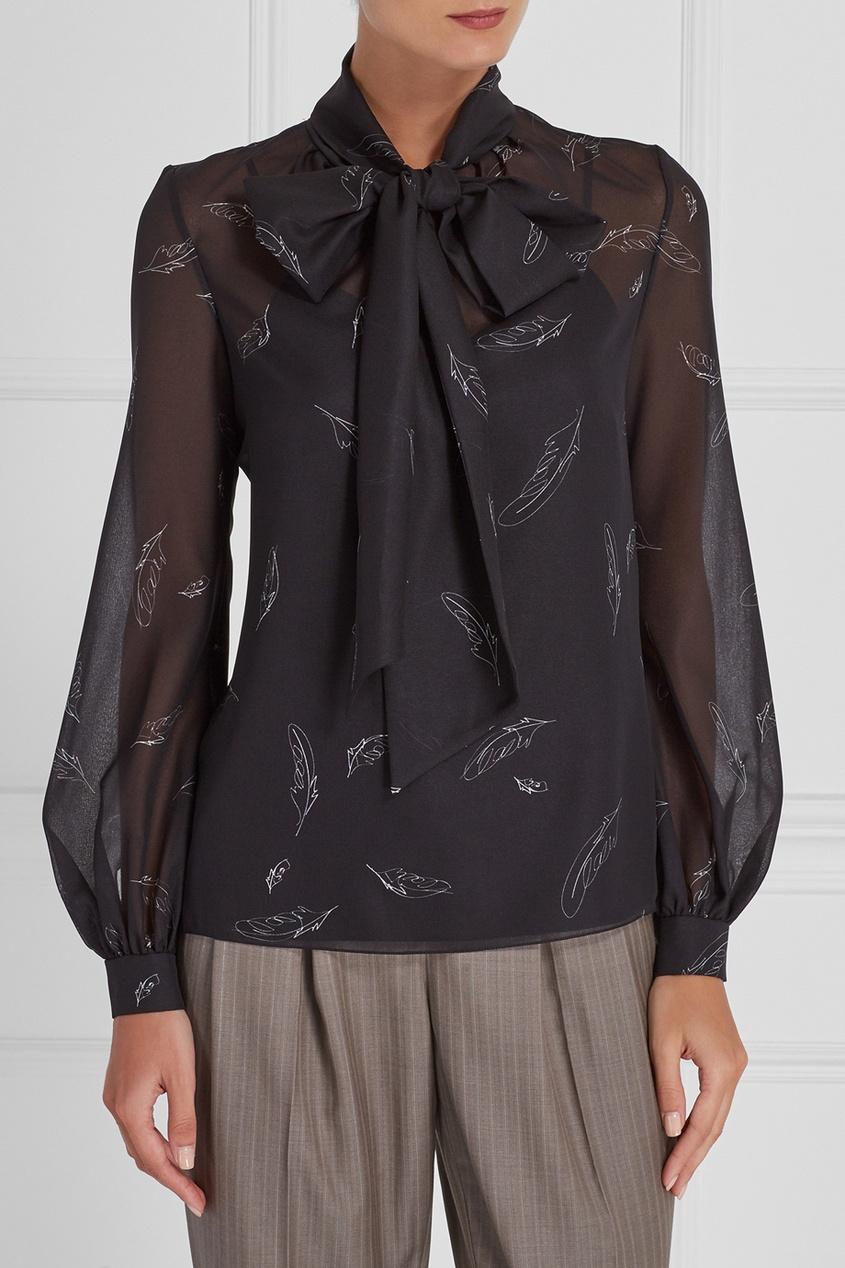 Блузка с контурным принтом