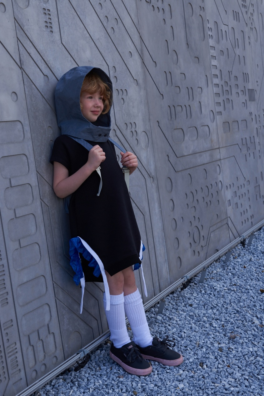 LU KIDS Платье с оборками по бокам