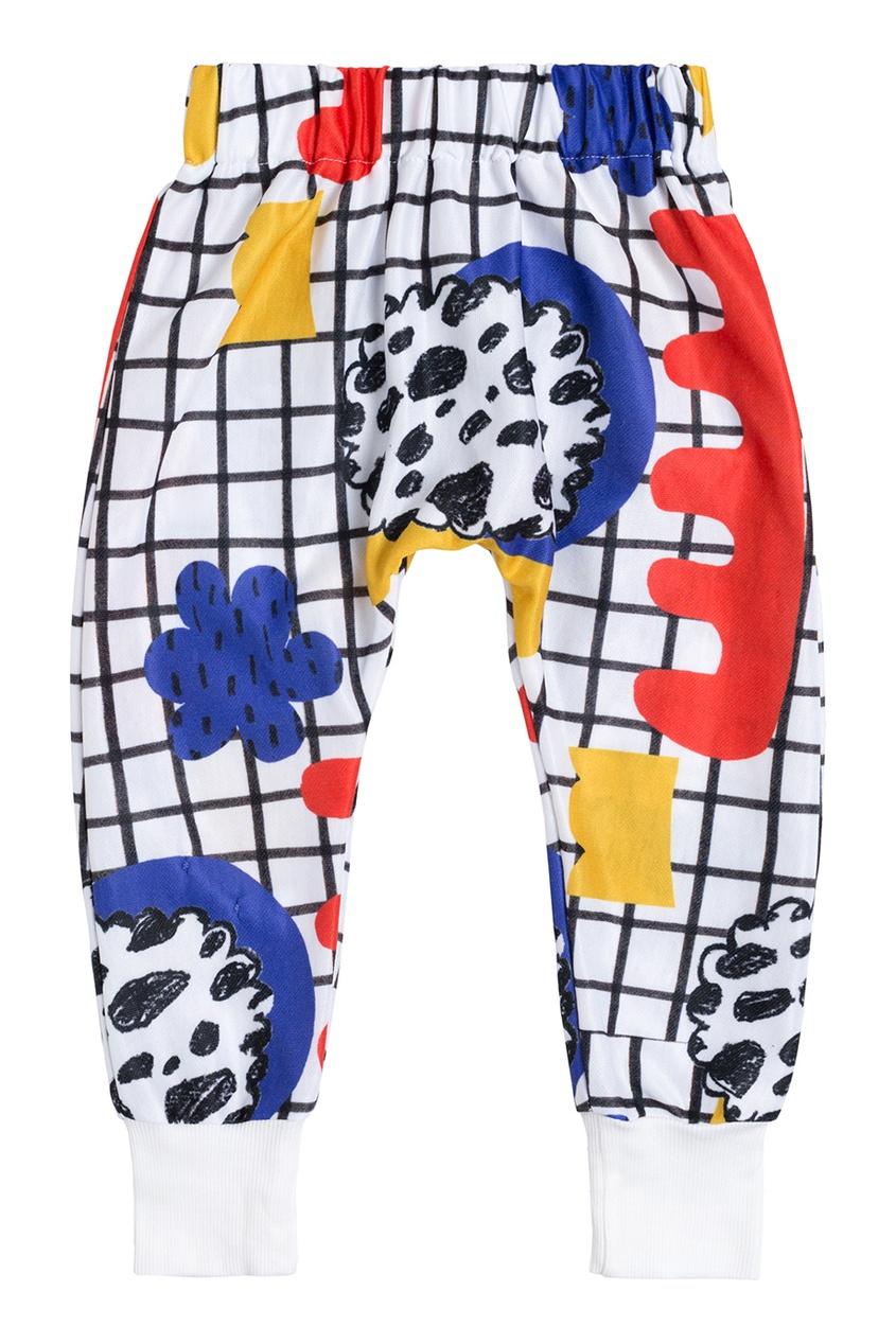Белые брюки с принтом LU KIDS