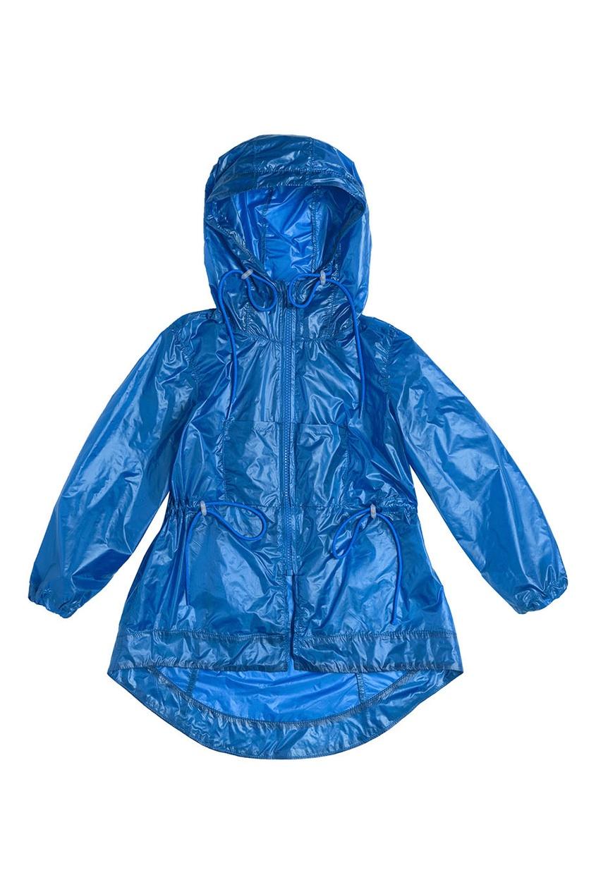 Синий дождевик с кулисками