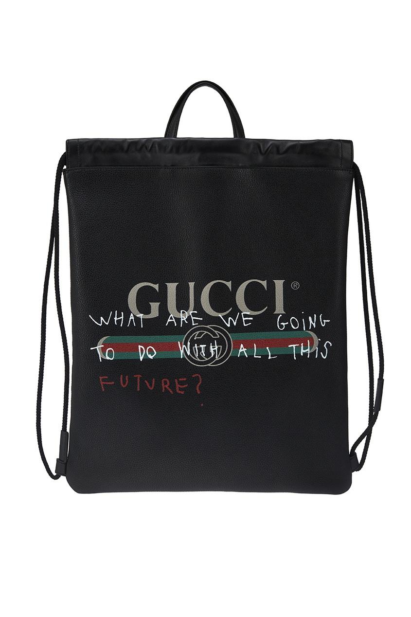 Черный кожаный рюкзак Coco Capitan