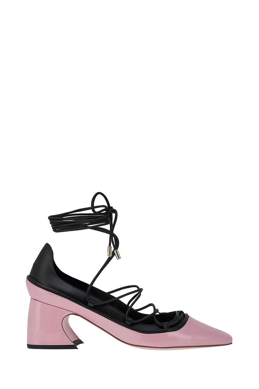 Розовые туфли на шнуровке от Rosbalet