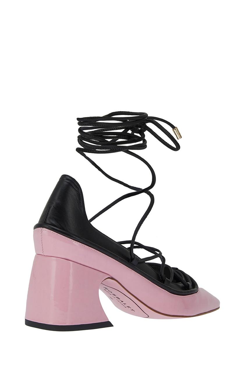 Фото 3 - Розовые туфли на шнуровке от Rosbalet розового цвета