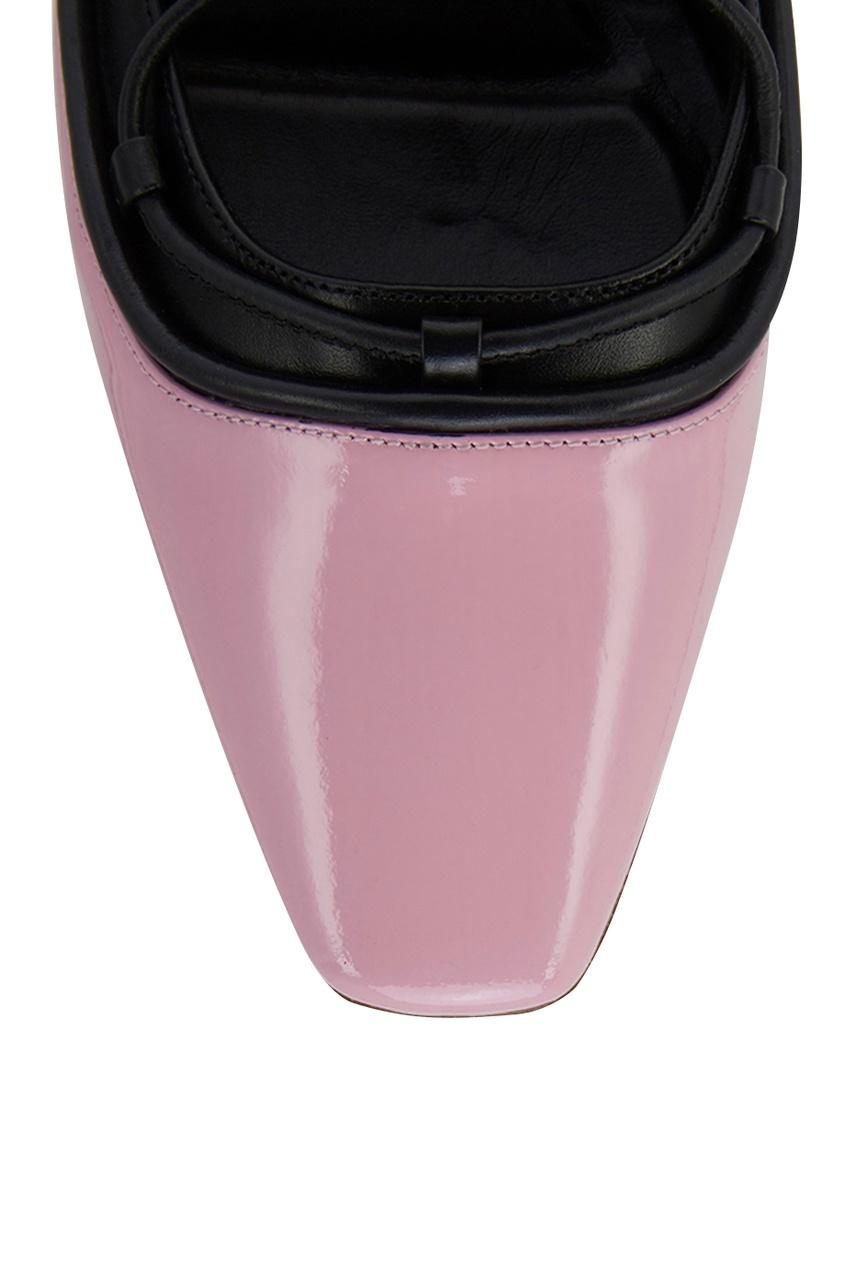 Фото 4 - Розовые туфли на шнуровке от Rosbalet розового цвета
