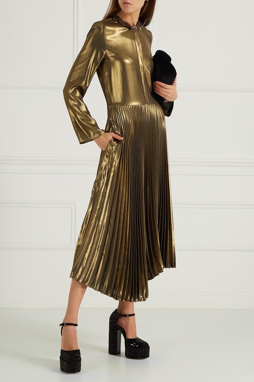 Golden Goose Deluxe Brand Платье с плиссированным подолом
