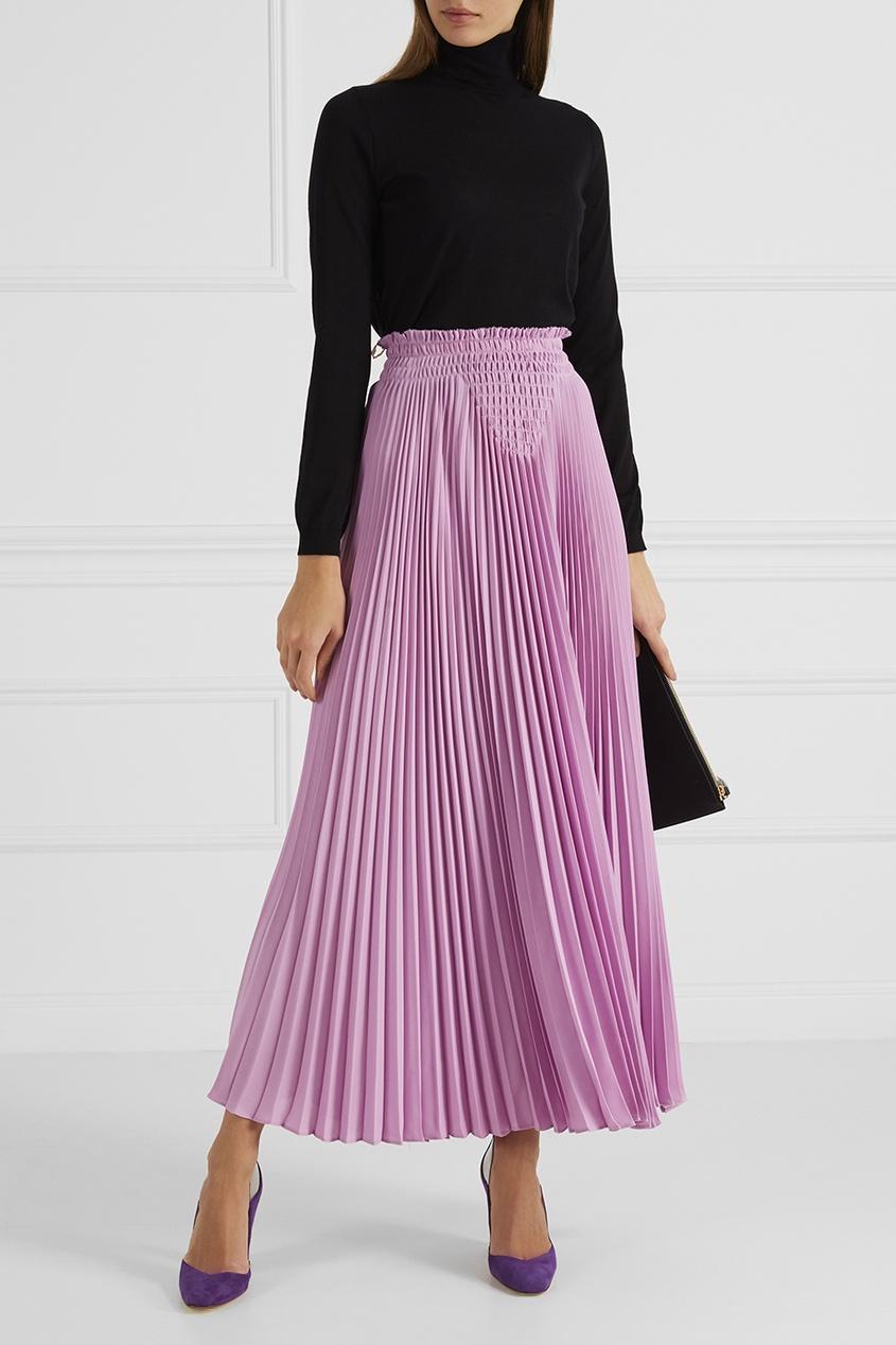 Шелковая плиссированная юбка